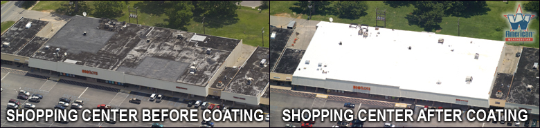 Shopping Center Roof Coating